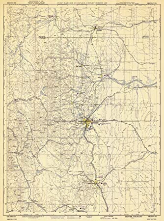 Amazon.com: Map - Denver, 1950 Aeronautical NOAA Chart ...