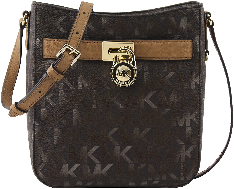 fe9dac27a4b2 Michael Kors Signature PVC Hamilton Traveler Crossbody Bag Vanilla Luggage   Handbags  Amazon.com