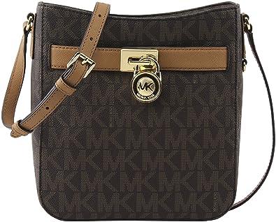 6bded8888a3b1e MICHAEL Michael Kors Women's Brown Acorn Signature PVC Hamilton Large  Crossbody Bag, Style 35H6GHXC3B