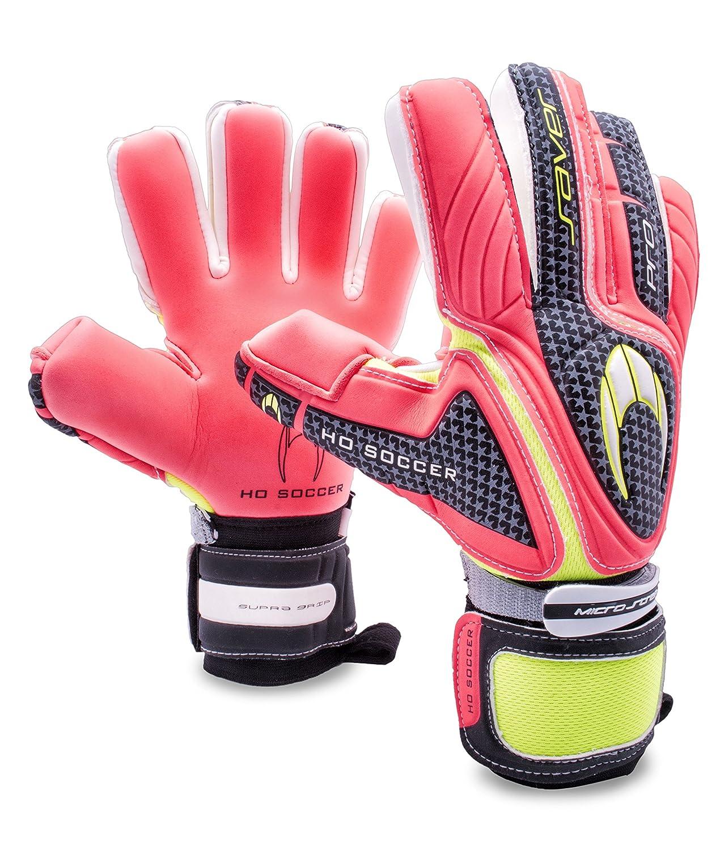 HO Soccer Pro Saver Negative Torwarthandschuhe, Unisex Erwachsene 44,5 schwarz (Warning) grün (Lima)