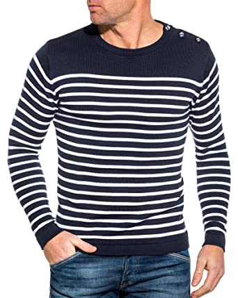 Pull Vêtements Bleu Blz Navy Rayures Jeans À Marinière BqFU57