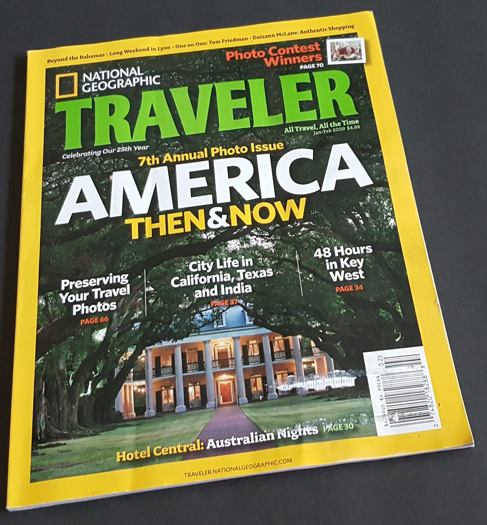 National Geographic Traveler Magazine, January / February 2009