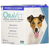 Merial 30 Count Oravet Dental Hygiene Chew for Dogs 10-24lbs