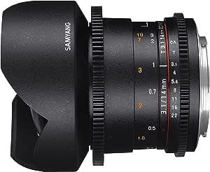Samyang F1312603101 - Objetivo para vídeo VDSLR para Nikon F ...