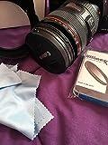 Canon EF 24-105mm f/4 L IS USM Lens (white box) for Canon EOS Digital SLR Cameras T5, T5i, 5D Mark II / III, 6D, 60D, 7D Mark II, 70D, SL1, 600D, 650D, 700D, 1200D + UV filter + Microfiber cloth