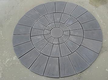 Robinswood Stone Stone Concrete Circle Patio Paving Set 3.0 Meters.