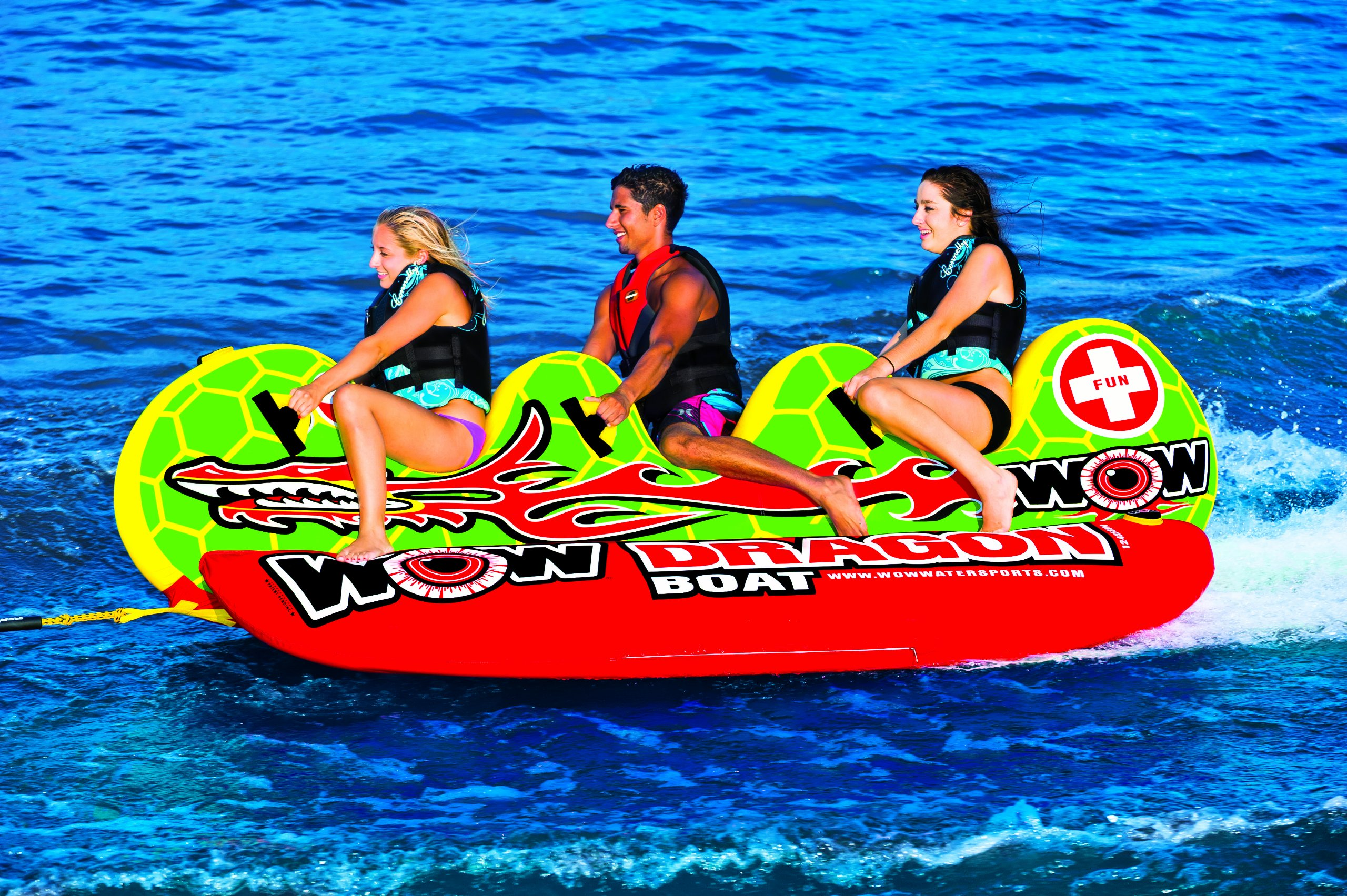 WOW World of Watersports 13-1060, Dragon Boat Inflatable Towable, Ski Tube, 3 Person by WOW Sports (Image #3)