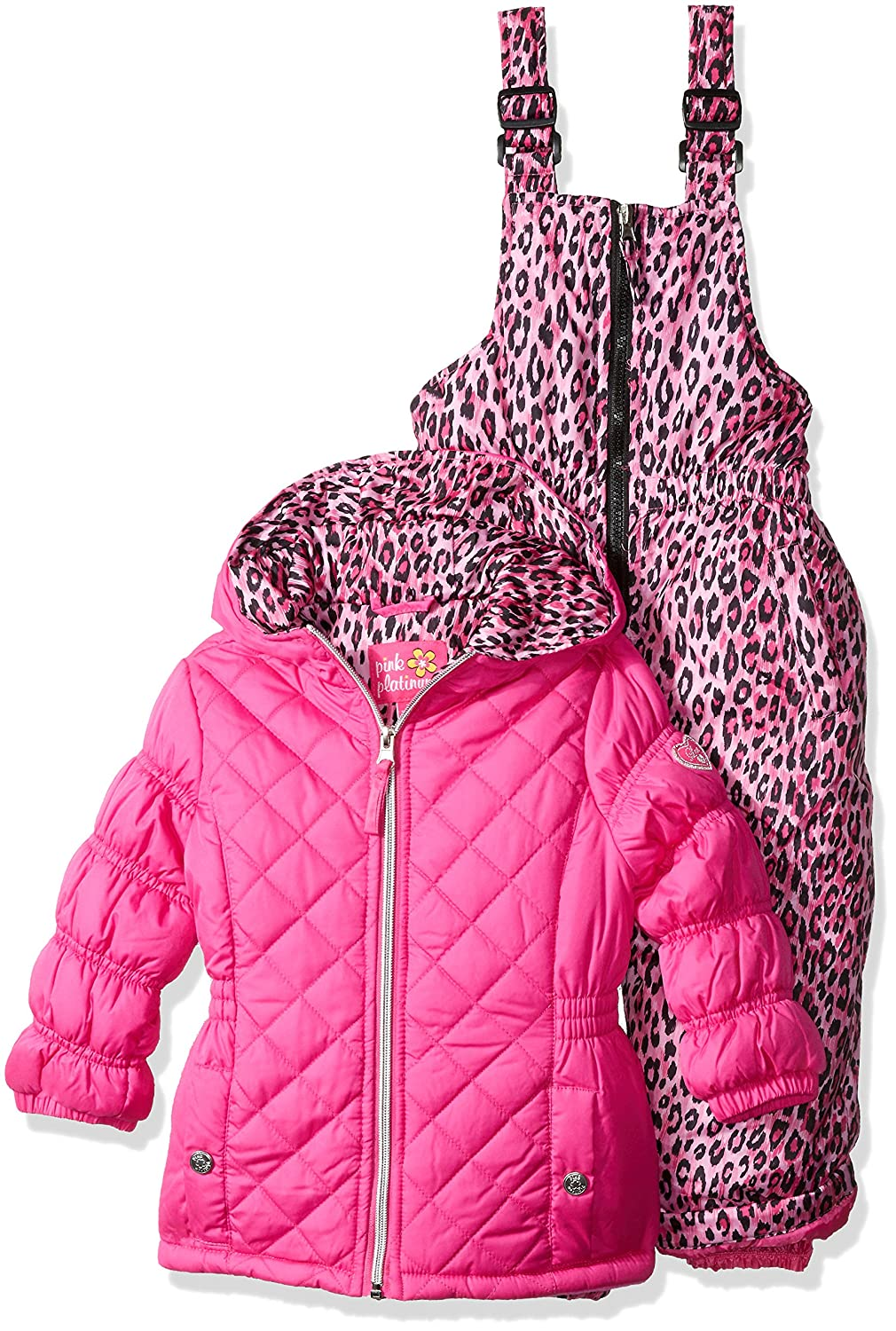pink ski snowsuit shipping over shoes product snowmobile winter free toddler clothing overstock snowboard puffer orders suit platinum girls on