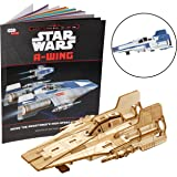 "Star Wars: The Last Jedi A-Wing Book and 3D Wood Model Kit - Build, Paint and Collect Your Own Wooden Model - Great For Kids and Adults, 12+ - 3"" x 5"""