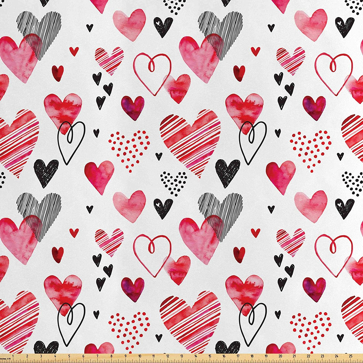 New Valentines Love Prints 1//2 Yard Choice Of Print Cotton Fabric Page Hearts