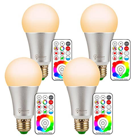 LumenBasic Watt Color Changing Light Bulbs RGB With Warm White - What color light bulb for bedroom