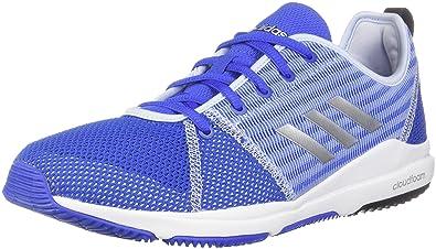 low priced 5304f c6ea1 adidas Womens Arianna Cloudfoam Hair BlueSilver Metal Aerial Ankle-High  Running Shoe -