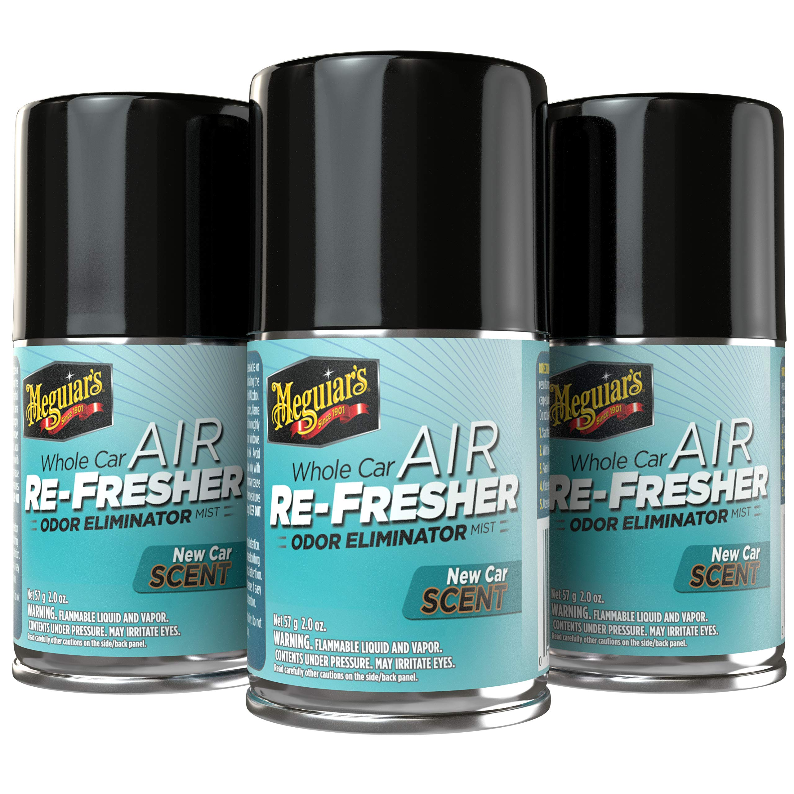 Meguiar's G16402PK3 New Car Air Re-Fresher, 3-Pack, 6. Fluid_Ounces