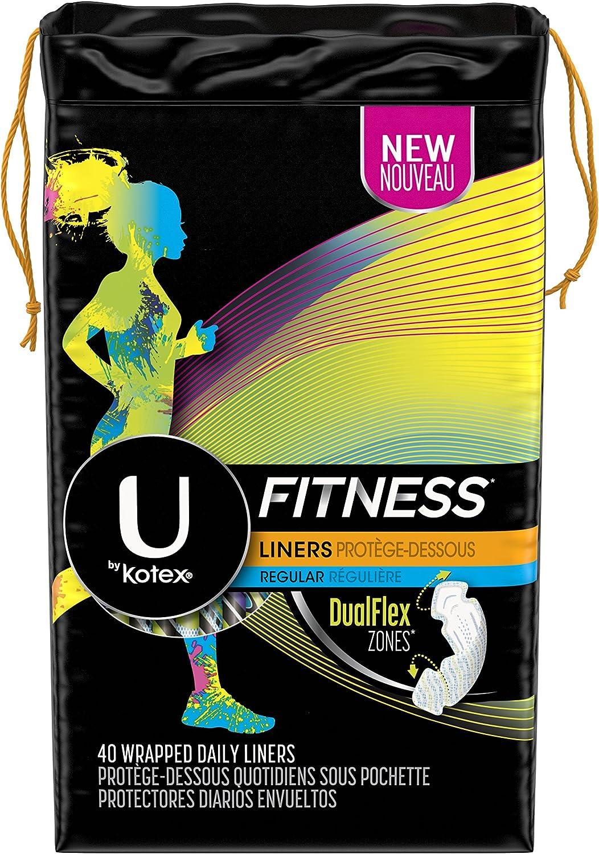 Kotex Fitness Liners, Regular, 40 Count