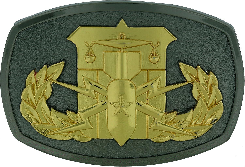 Hazardous Device TechnicianHDT Belt Buckle Black Nickel-Gold