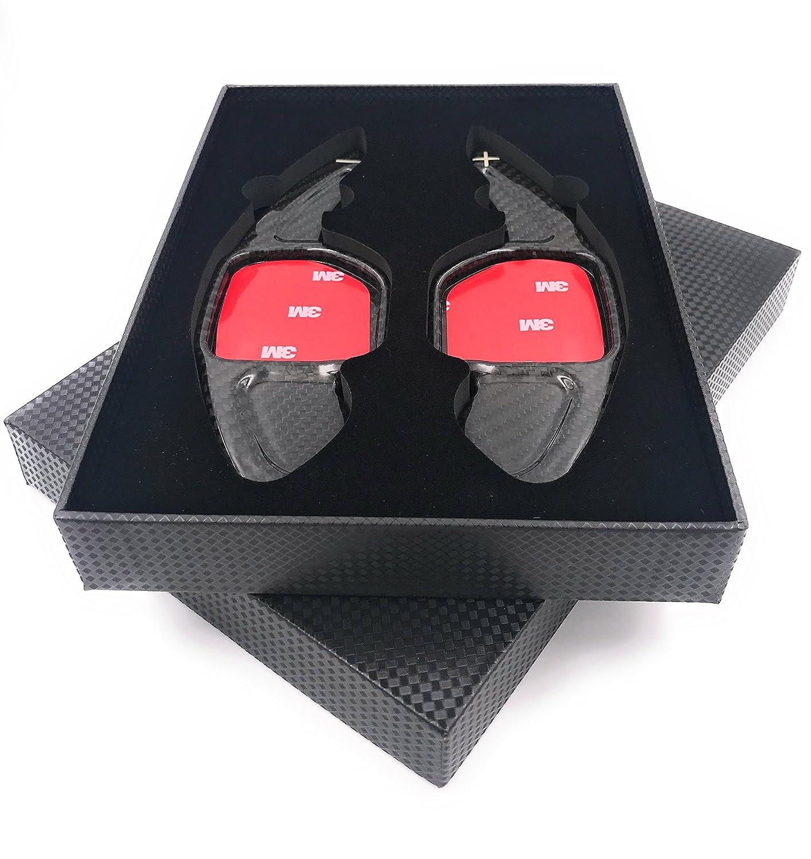 H-Customs Dsg Shifters Padlle Shifter Comandi Del Cambio Jack Di Spostamento Shift Paddle fatto di carbonio reale per 2004-2012 A1(10-12) A3 S3 RS3(06-12) A4 S4 RS4(04-12) A5 S5 RS5(07-12) A6 S6 RS6(04-12) A7 S7(10-12) A8 S8(06-12) TT TTS TT-RS(05-12) Q5 Q