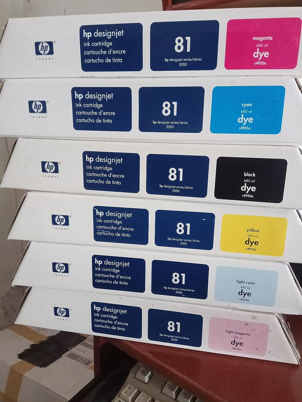 Nuevo – Lote 6 HP 83 UV Ink Designjet 5000 C4940 a c4943 a c4944 a C4945 A impresora: Amazon.es: Oficina y papelería