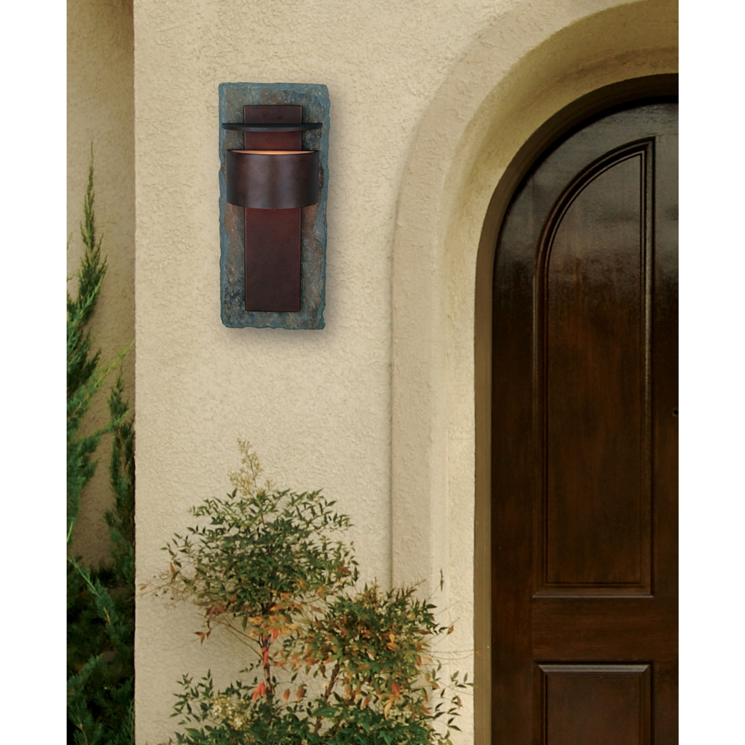 Kenroy Home 70287SL Pembrooke Extra Large Lantern, Natural Slate With Copper, Extra Large by Kenroy Home