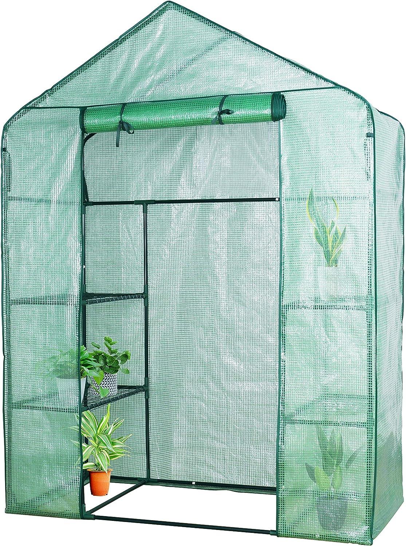 YOUKE Serre de Jardin PE Plastique Tente abri 143 x 73 x 195 CM diverses mod/èles