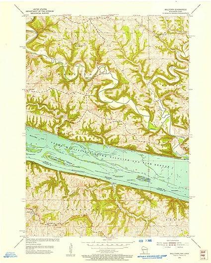 Amazon.com: Iowa Maps | 1955 Balltown, IA USGS Historical