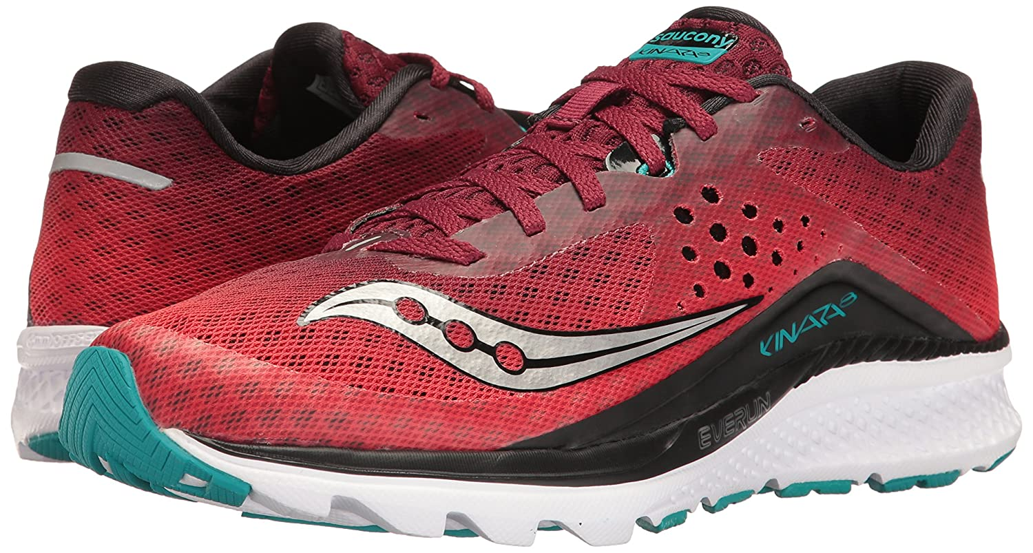 Saucony Men's Kinvara 8 Running Shoe, RedBlackTeal, 9 UK