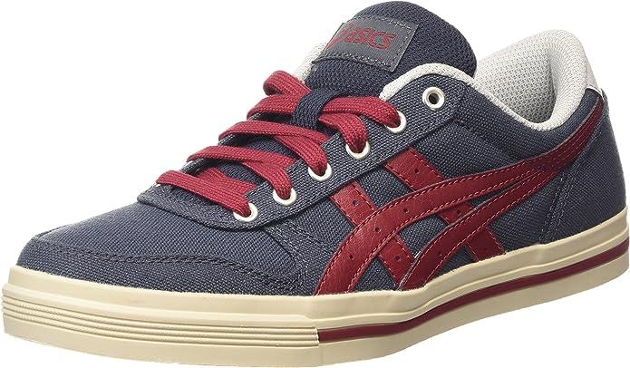 ASICS Aaron Sneaker Herren Blau mit Roten Streifen