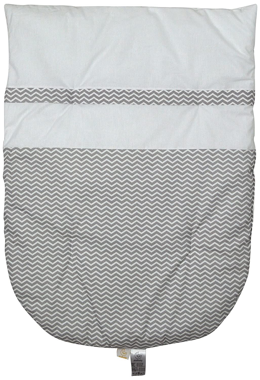 ITALBABY Zigzag abnehmbarer Bettbezug für Kinderwagen, grau