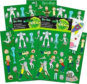 Rick and Morty Party Favors Set de pegatinas – El paquete incluye 8 hojas de pegatinas de
