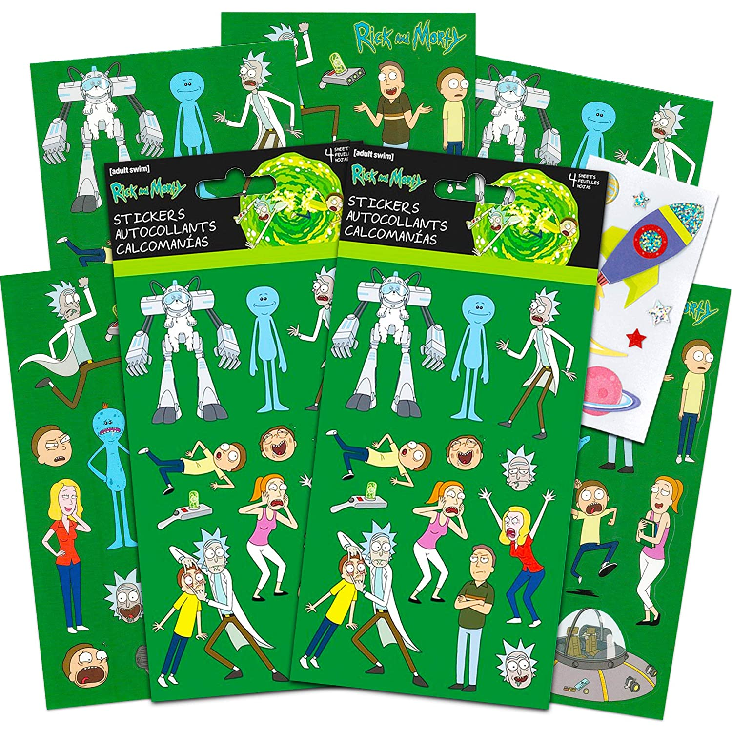 Rick and Morty Party Favors Set de Pegatinas - El Paquete Incluye ...