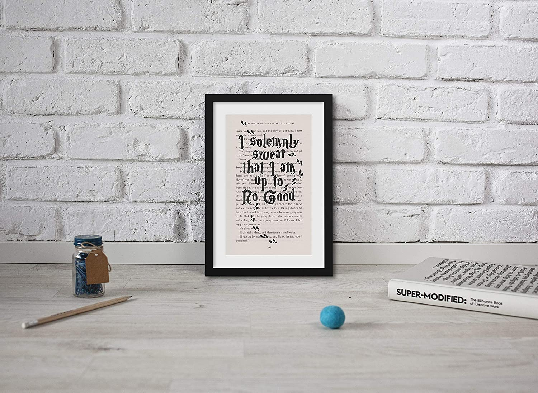 Big Print Little Print Impresión artística de Harry Potter ...