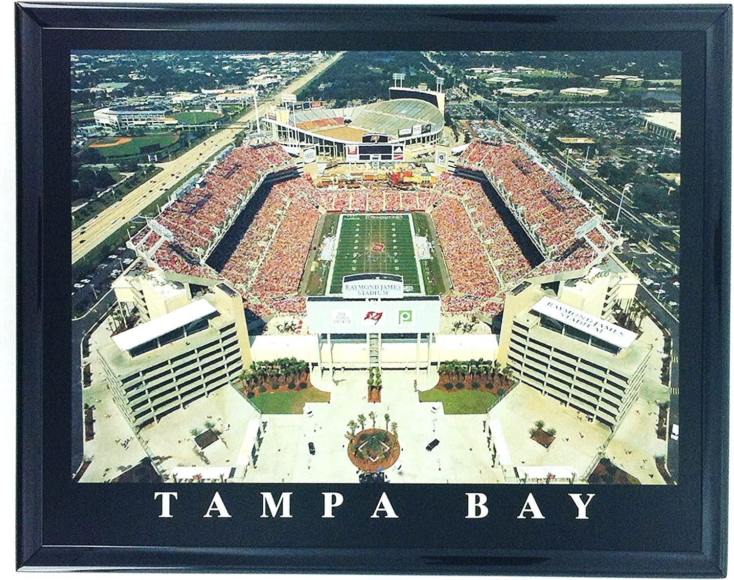 amazon com tampa bay buccaneers stadium framed aerial photo wall art f7531a posters prints tampa bay buccaneers stadium framed aerial photo wall art f7531a