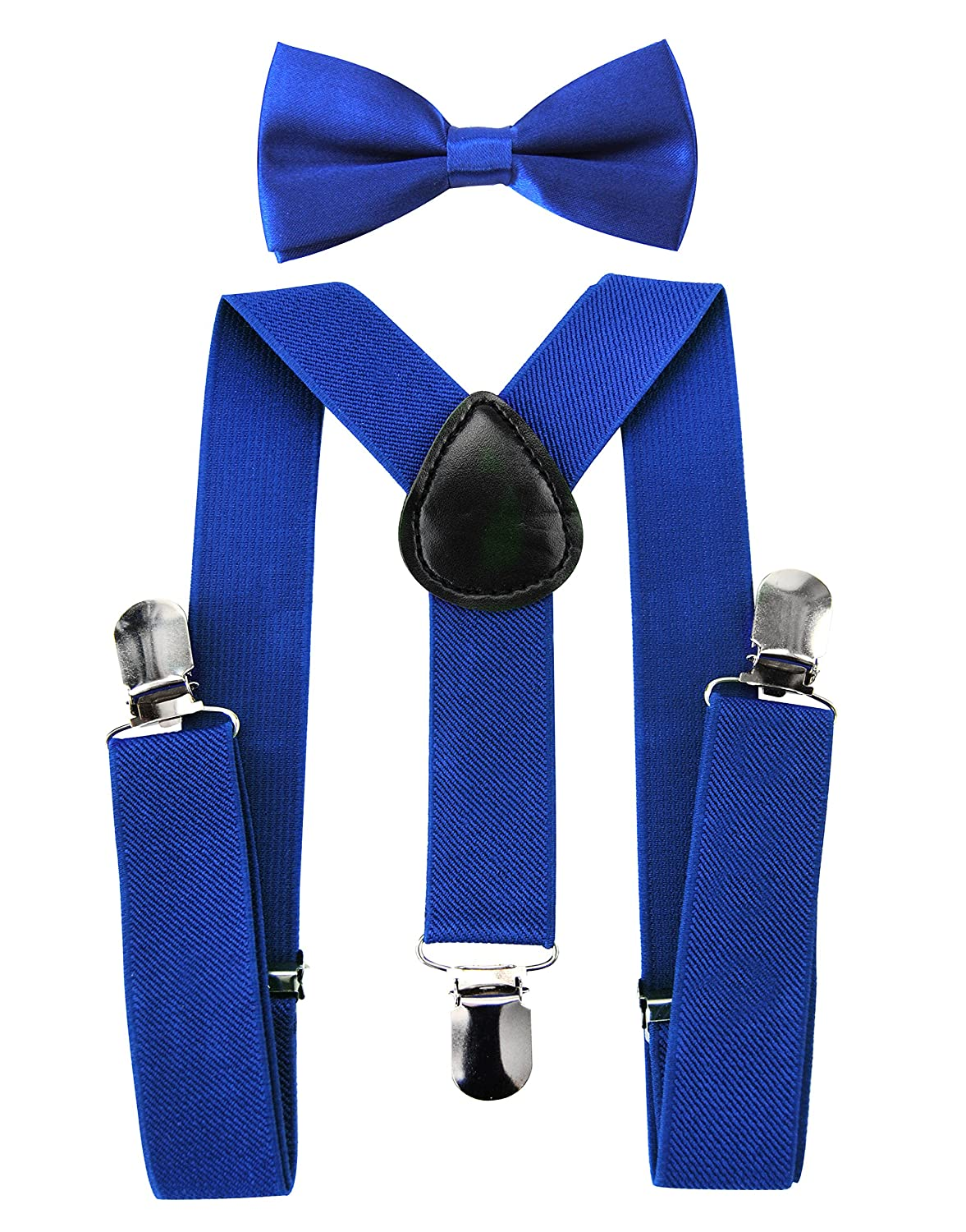 Plain Colours Axy High Quality Children/'s Y-shape Braces with Bow Tie 3 Extra Strong Clips