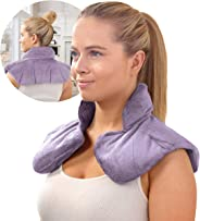 SHARPER IMAGE Hot & Cold Herbal Aromatherapy Neck & Shoulder Plush Wrap Pad for Soothing Muscle Pain and Tension Relief Thera