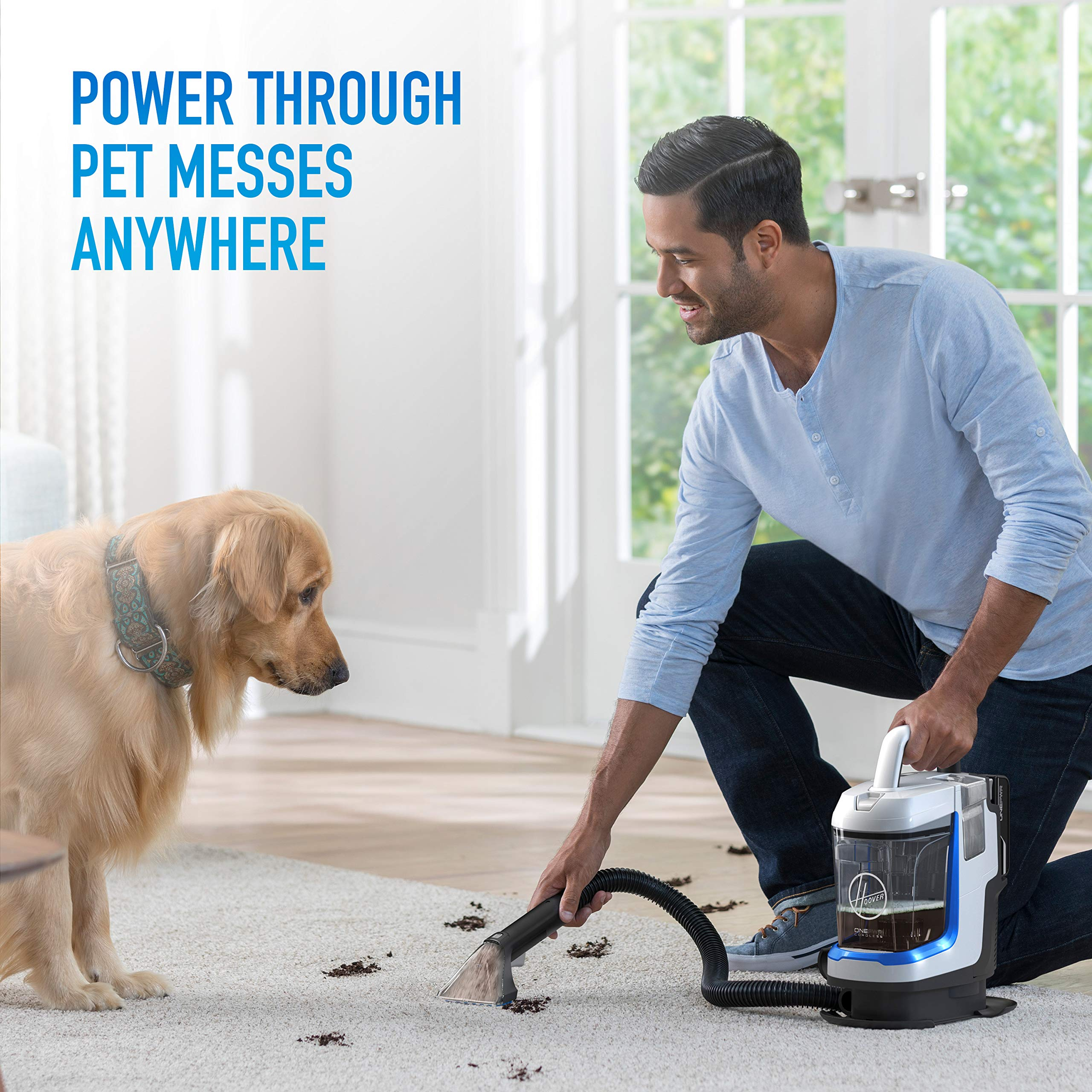 Hoover ONEPWR Spotless GO Cordless Carpet and Upholstery Cleaner, Portable, Lightweight, BH12001, White by Hoover (Image #4)