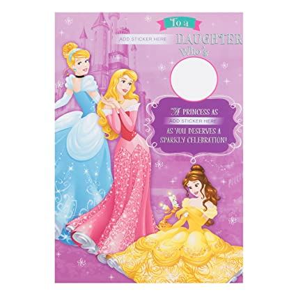 Hallmark Disney Princess - Tarjeta de cumpleaños para hija ...