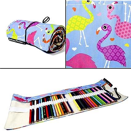Buy Coloron Dreamz Printed Bright Flamingo Pencil Roll Up