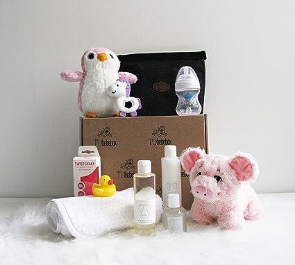 Canastilla bebé recién nacido - Cesta regalo bebé niña - Incluye ...