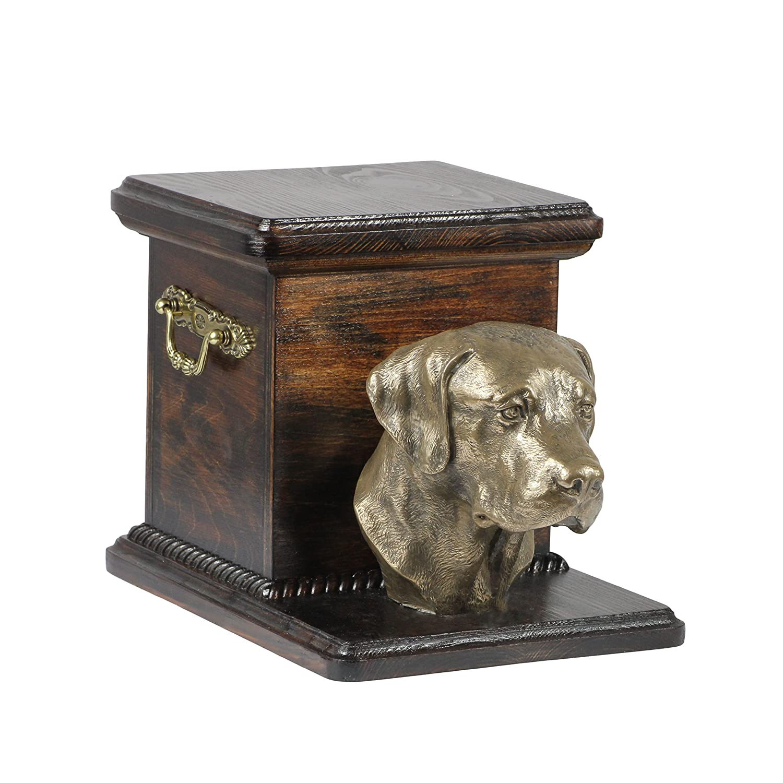 Labrador Retriever, Memorial, Urne für Hunde Asche, mit Hund Statue, ArtDog