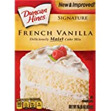 Duncan Hines Signature Cake Mix, French Vanilla, 15.25 Ounce (Pack of 12)