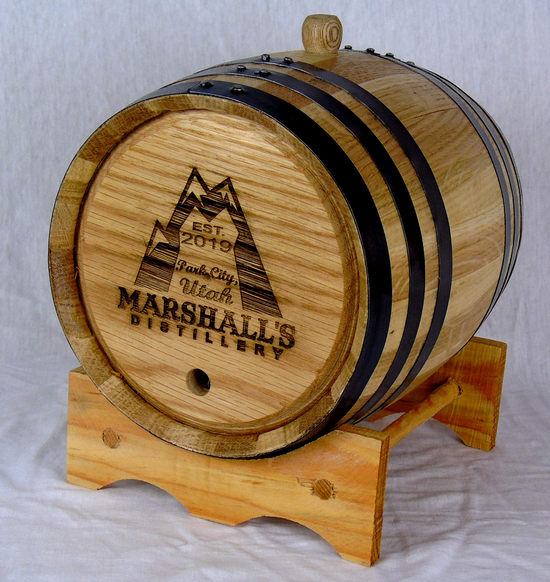Personalized Engraved White American Oak Aging Barrels RHB133 (1 Liter) by Red Head Barrels