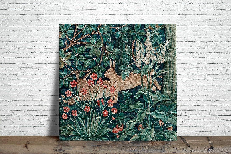 William Morris Illustration Painting Design Decorative Ceramic Wall Tile 6 x 6 Inches Reproduction 07