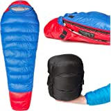 Thermodown 15 Degree Down Mummy Sleeping Bag - Ultralight Cold Weather, 3 Season Bag - Perfect for Backcountry Camping and Backpacking
