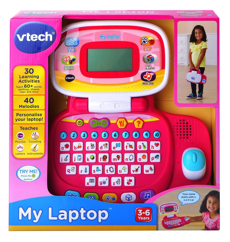 Amazon.es: VTech - Peque ordenador educativo, color rosa, versión inglesa (155453)