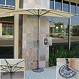 Best Choice Products Patio Umbrella Half With Umbrella Stand 9' Tan Market Aluminum Umbrella Commercial