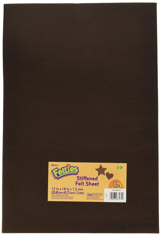 Darice Stiff White, 12 x 18 inches Felt Sheet, 1 (12' x 18') 1 (12 x 18) FLT-0331