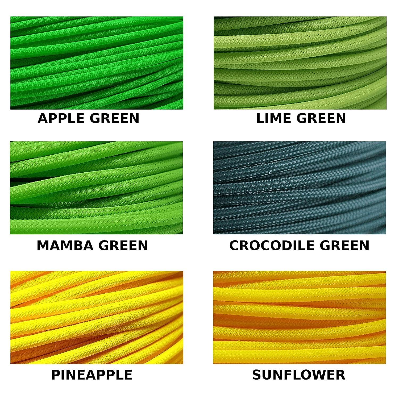 BD Geflechtschlauch Gewebeschlauch Kabelschlauch PET Sleeve Kabelschutz 2mm, Apple Green, 1