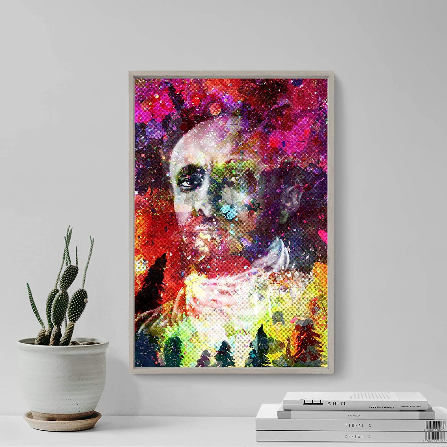 "HAILE SELASSIE ART PRINT /""COLOURBURST/"" PHOTO POSTER GIFT"