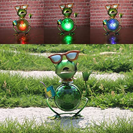 Amazon.com: W-DIAN - Lámpara LED de jardín de metal con 7 ...