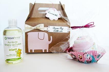 Regalo Original para Bebé | Caja con Maxi Cupcake (hecho con un body de ALGODÓN