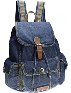 ... SAIERLONG Womens And Girls Denim Backpack School Bag Travel Bag  Shoulder Bag premium selection db215 a1c3b ... a256f6a958